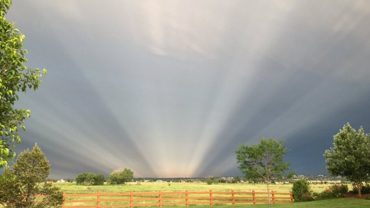 Mike Nelson explains the sunbeams (a.k.a. anticrepuscular rays) we saw Monday evening in Colorado