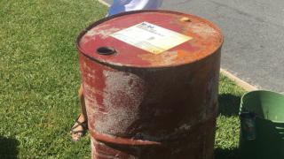 WPTV oil drum