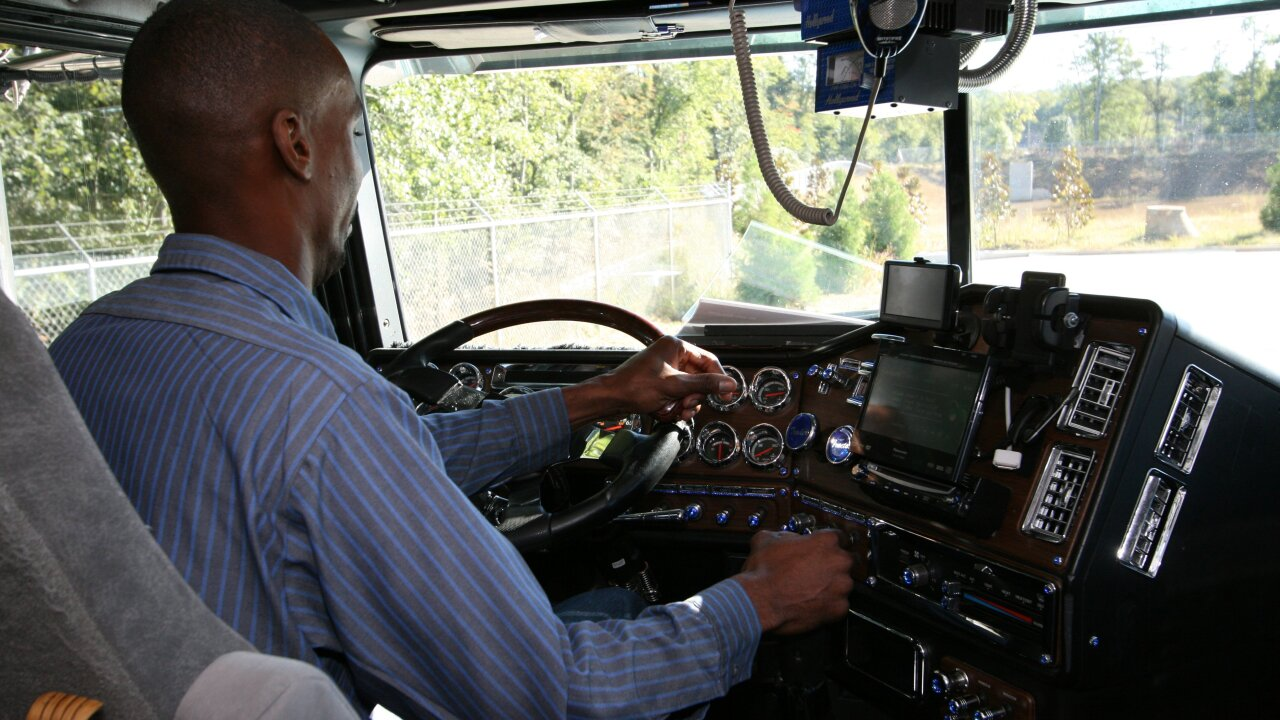 Truck driver shortage means big bucks for people looking for work