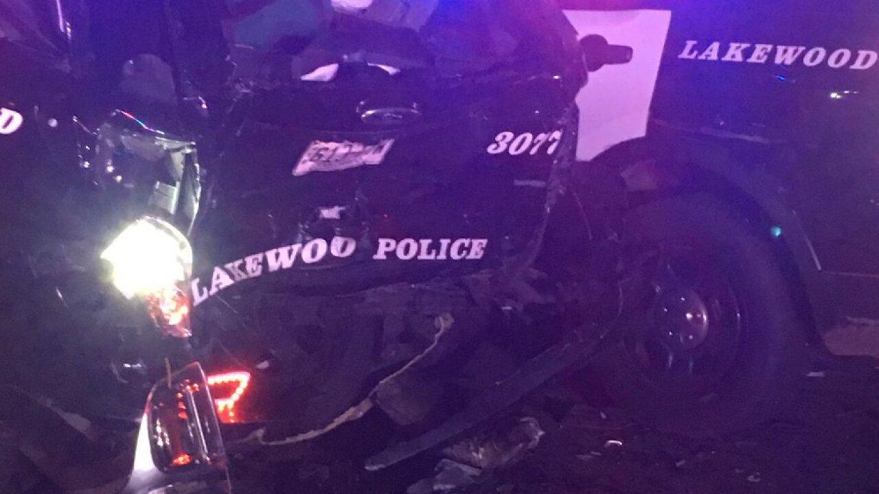 Lakewood Police car hit
