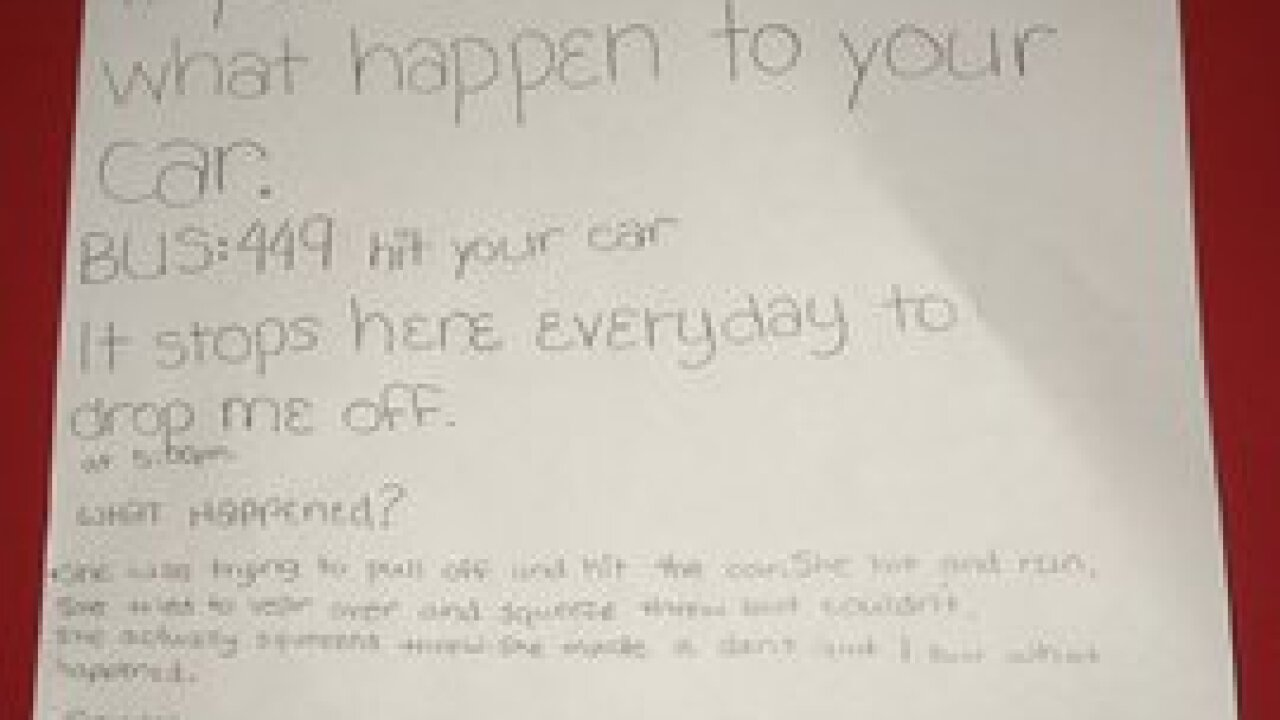Buffalo middle schoolers note goes viral