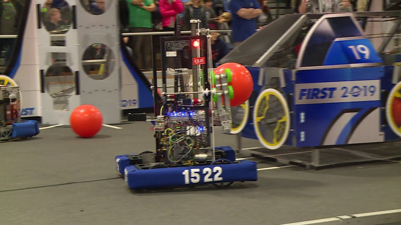 Students complete in annual FIRST Robotics Competition: 'It is incredibly exciting'