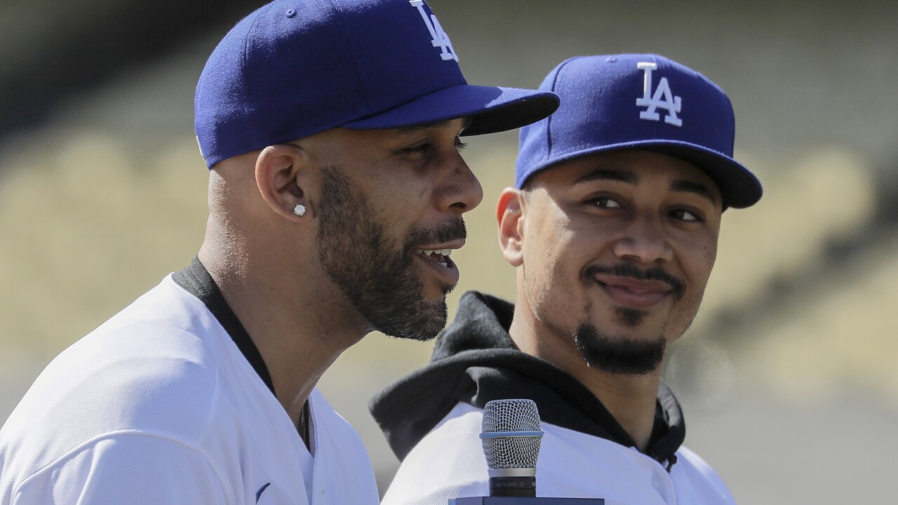 Dodgers Price Betts Baseball