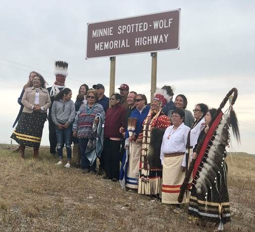 """Minnie Spotted-Wolf Memorial Highway"" dedicated"
