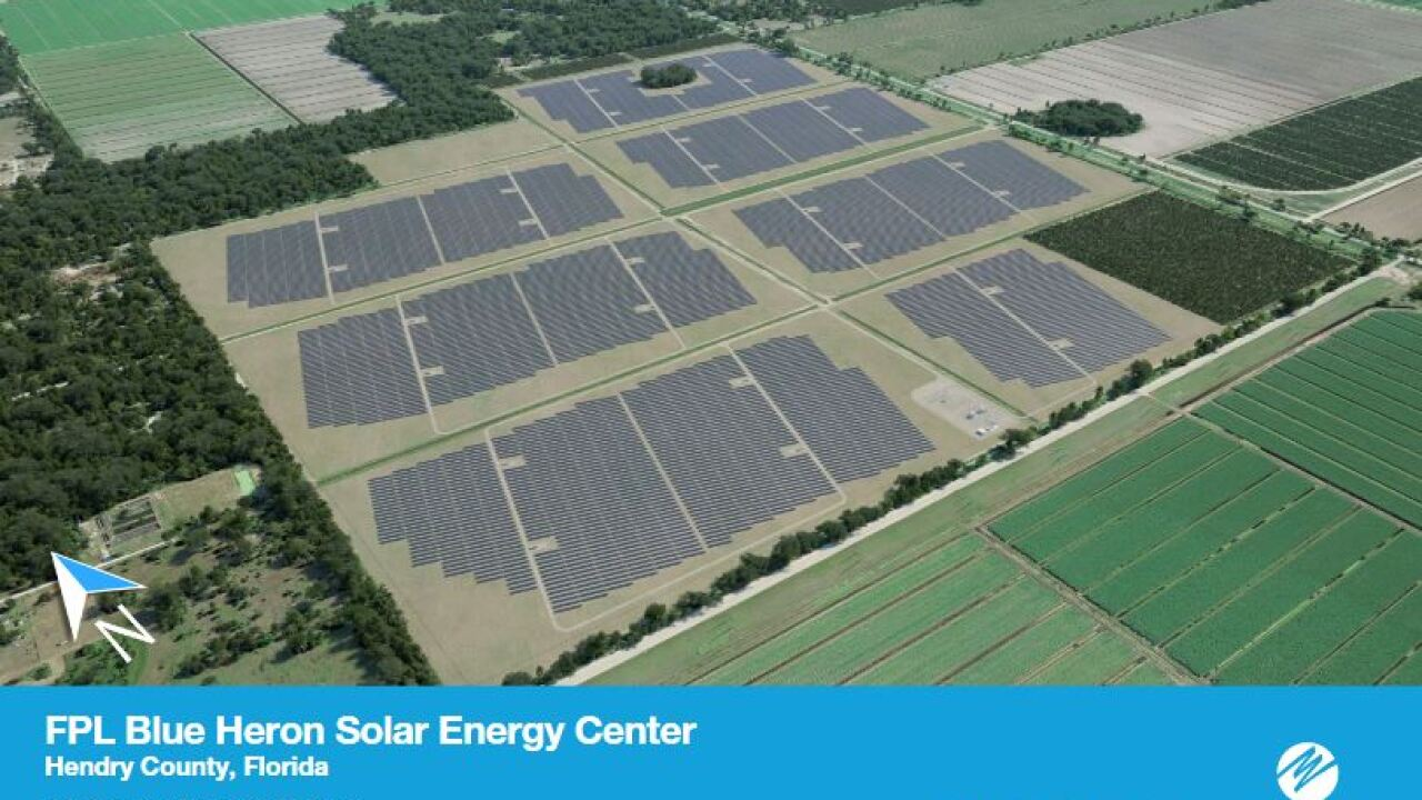 Rendering of proposed FPL solar facility