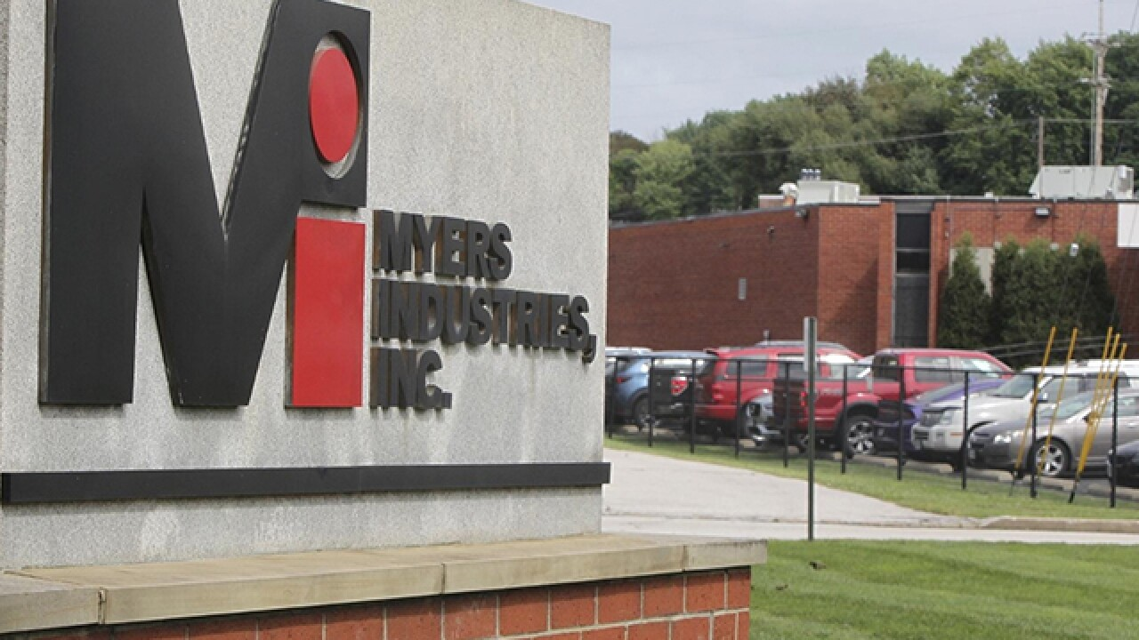 Myers Industries decides not to leave Akron after all