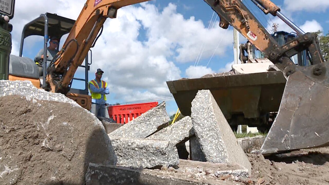 Construction in Tampa Bay.
