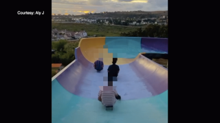 Trespassers at closed waterpark in California warned after video goes viral