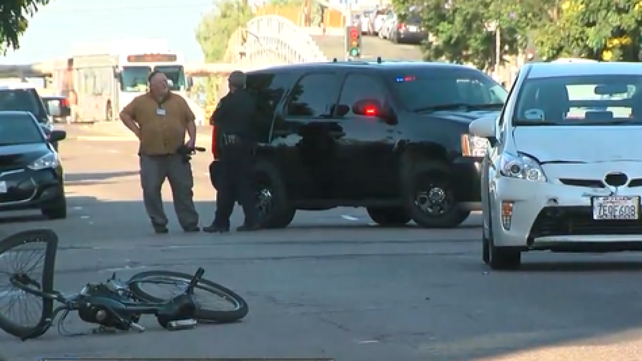 University Ave. shut down during rush hour due to motorized bicycle crash