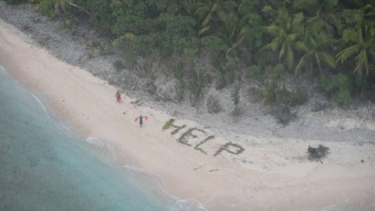 3 castaways rescued after spelling 'HELP'