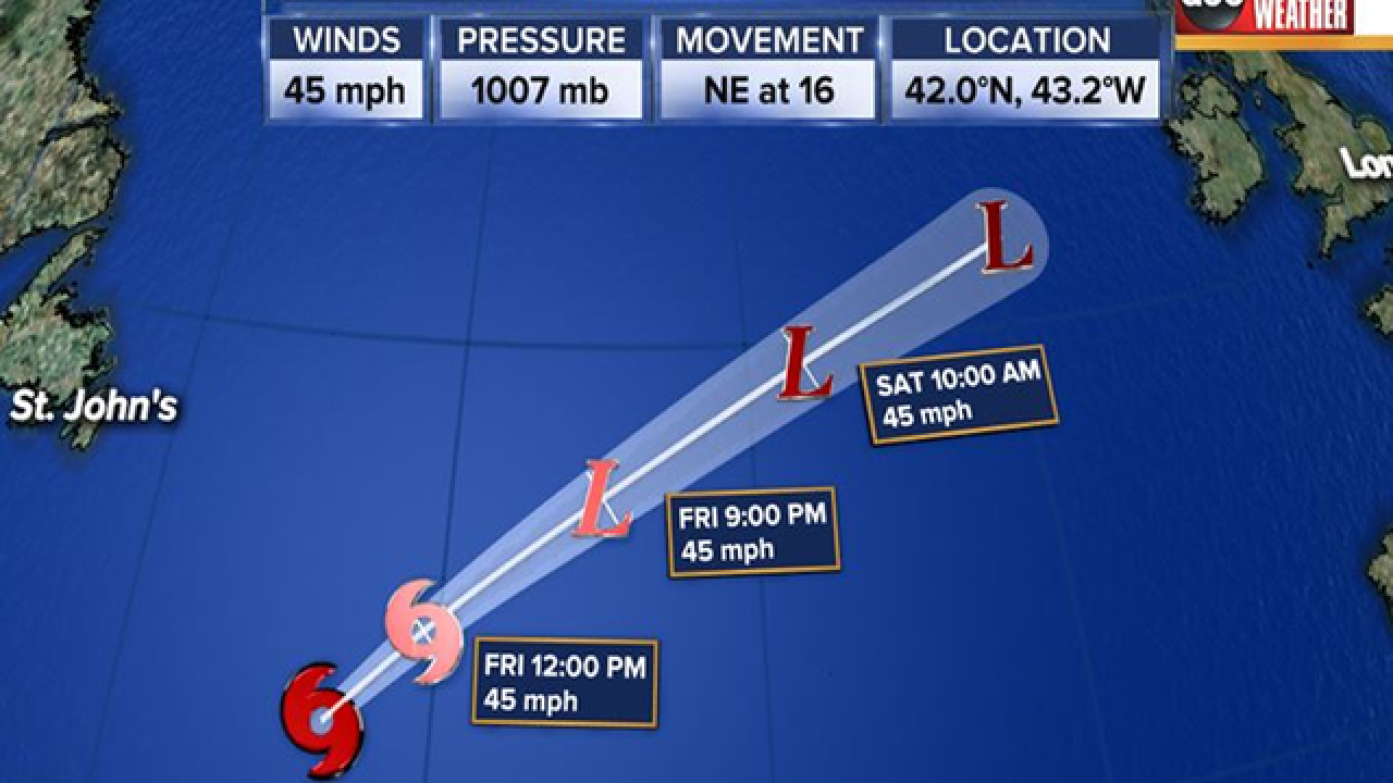 Subtropical depression five forms