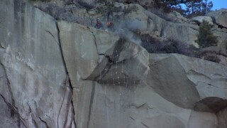 Rocks blasted off the Rims in Billings for safety
