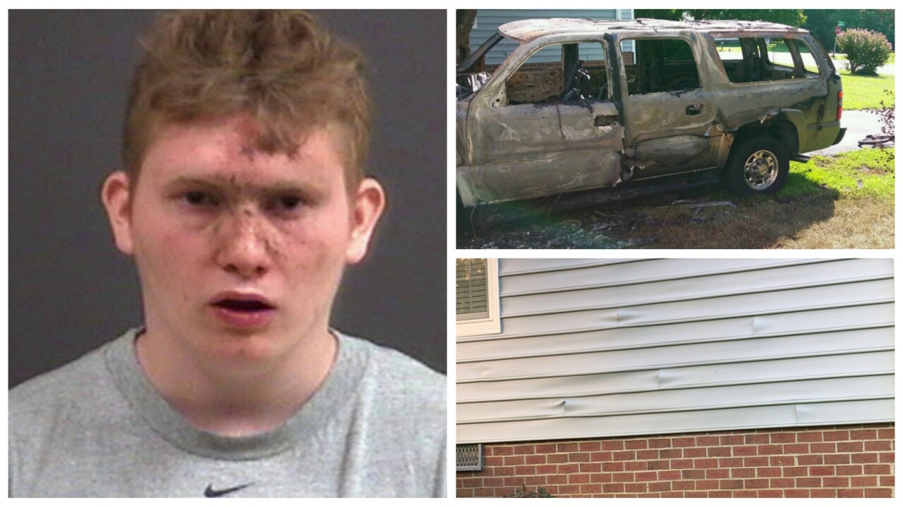 Man arrested for setting SUV on fire next to home with sleepingchildren