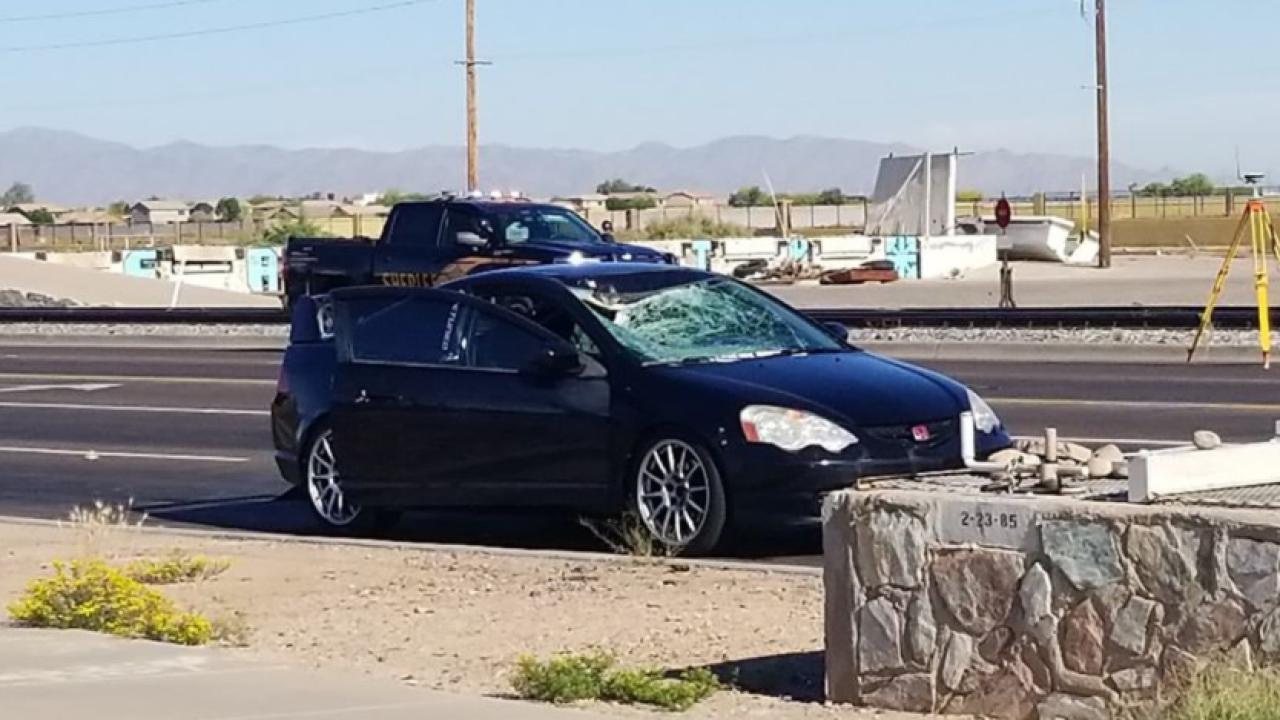 Fatal car vs. pedestrian accident 107th avenue and Buckeye