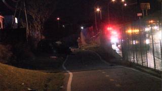 Crash closes right lane of I-190NB near Exit 11