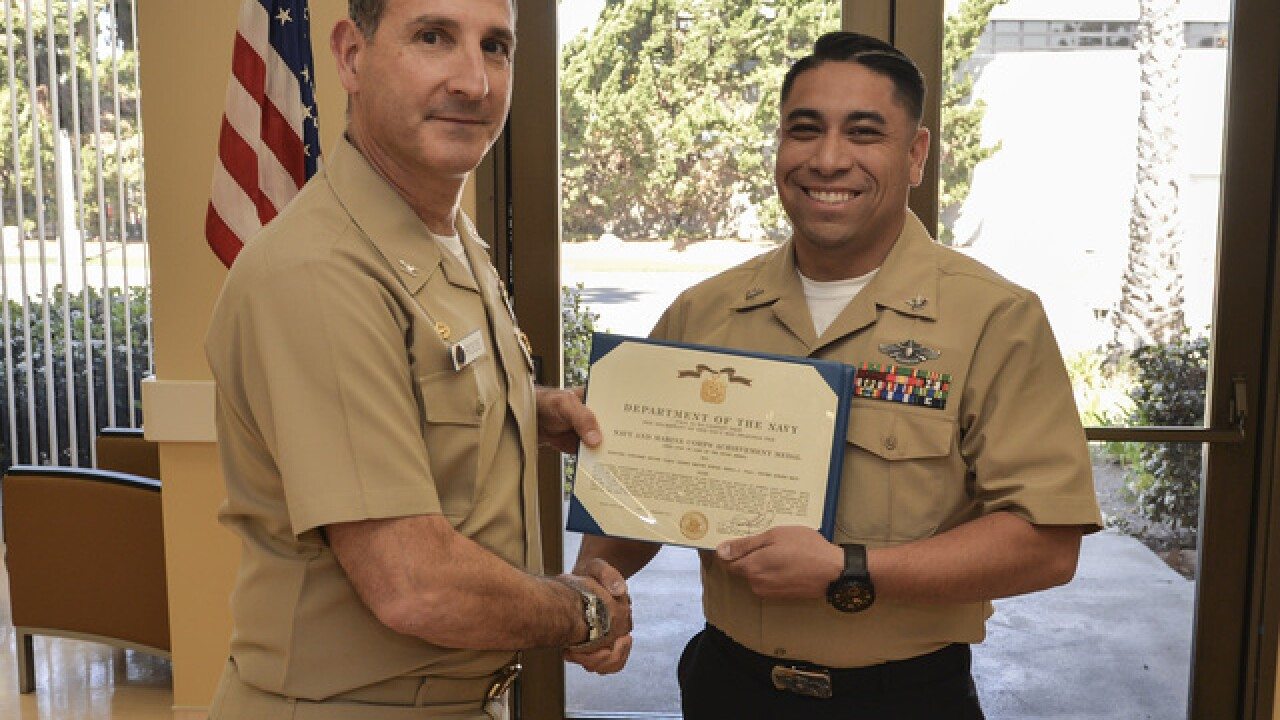 SD sailor honored for help taking down suspect