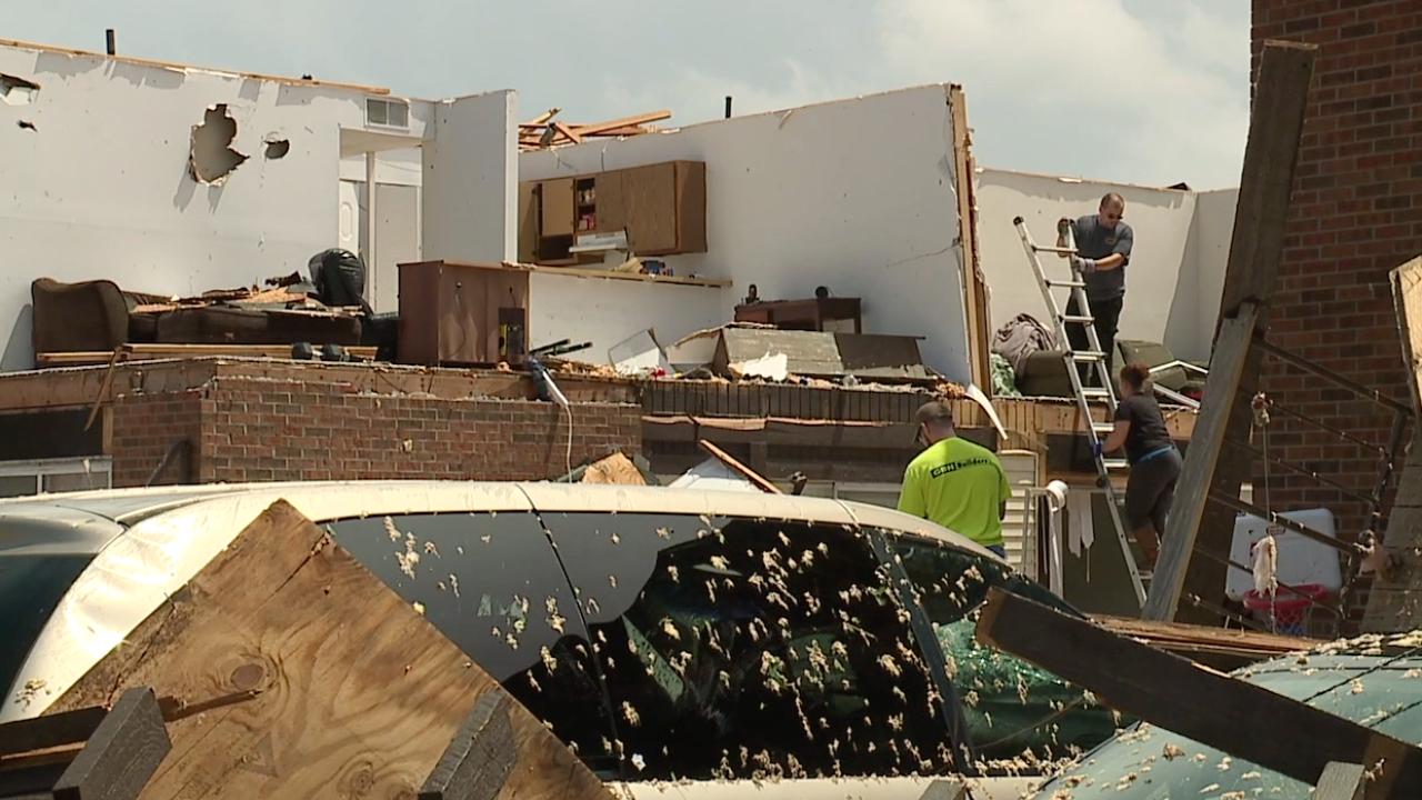 Residents emerge from shelter to find devastating destruction in Jefferson City, Missouri
