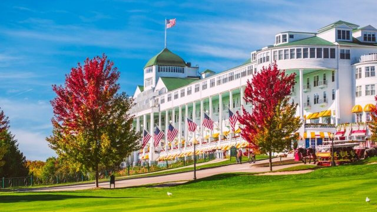 Grand Hotel on Mackinac Island offering Pure Michigan package to see fall colors