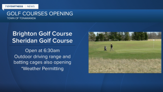 Two golf courses in the Northtowns reopen Thursday