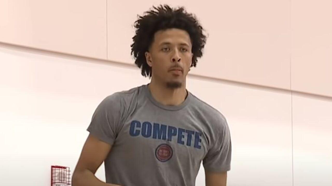 Cade Cunningham Pistons practice