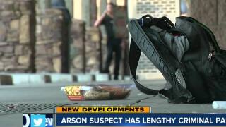 Arson suspect has lengthy criminal past