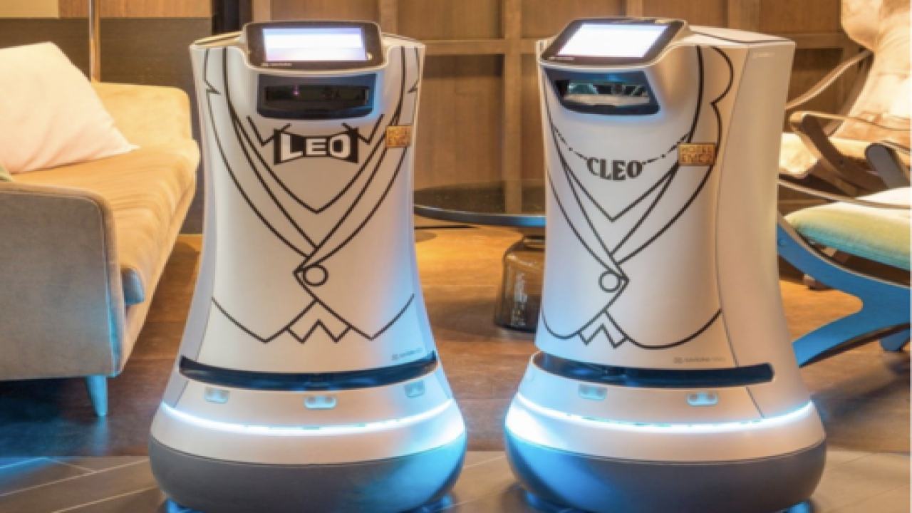 Robots Deliver Room Service At Hotel
