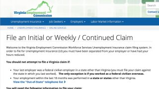 Some Virginians meet roadblocks while filing for unemployment