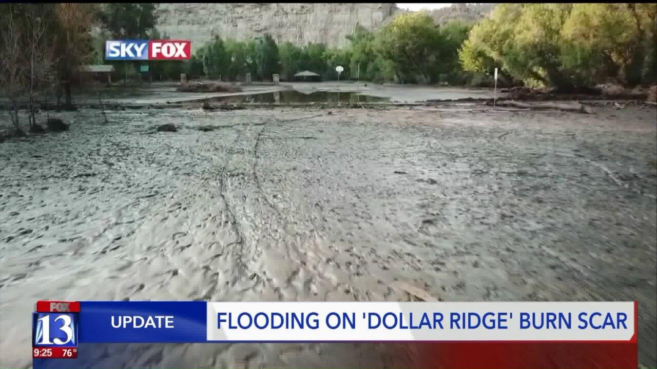 Flash flooding wreaks havoc on Dollar Ridge burnscar