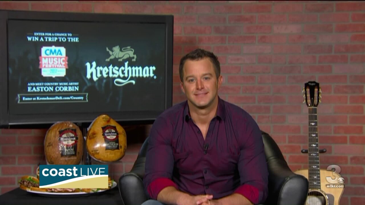 A special country experience with Easton Corbin on CoastLive