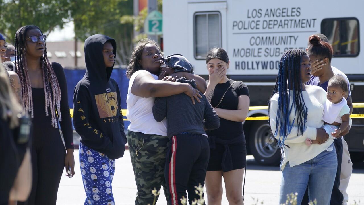 APTOPIX Hollywood Hills Robbery