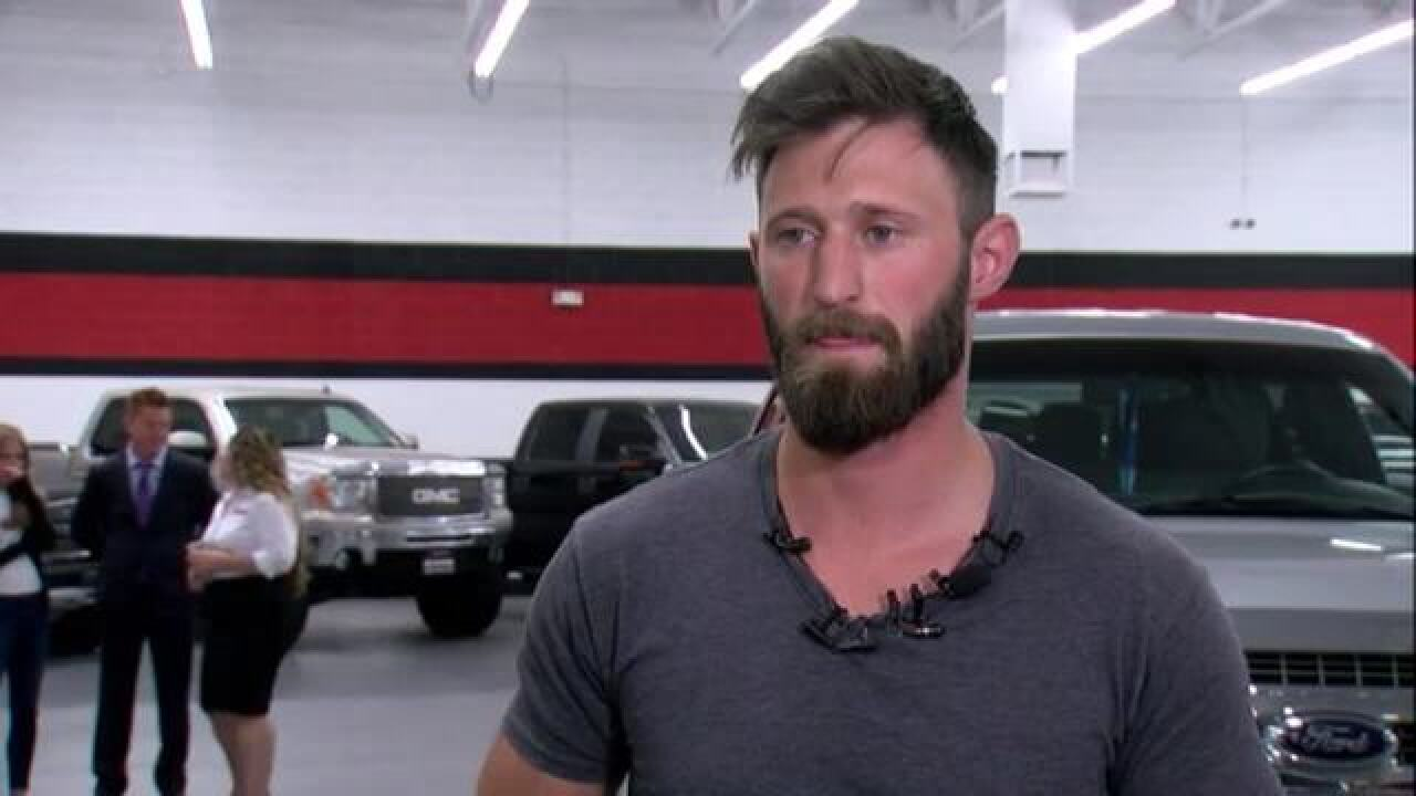 Veteran who helped Vegas victims gifted truck