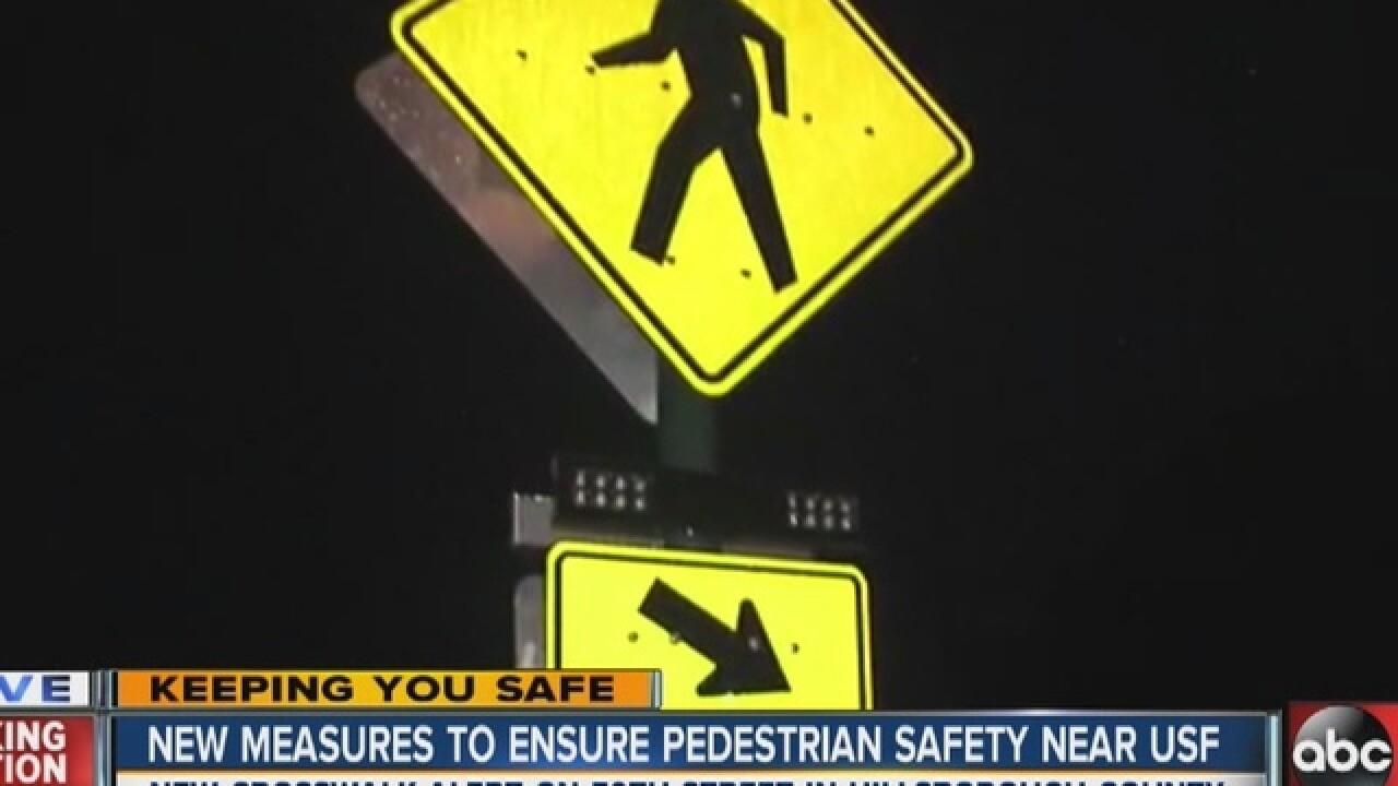 New crosswalks at USF