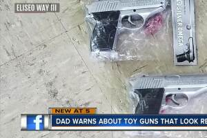Dad warns about toy guns that look too real