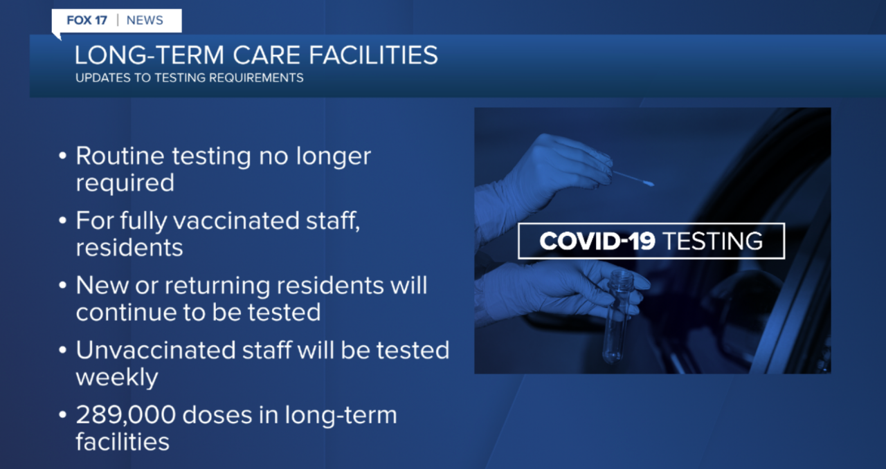 Revised order for vaccinated staff at long-term care facilities