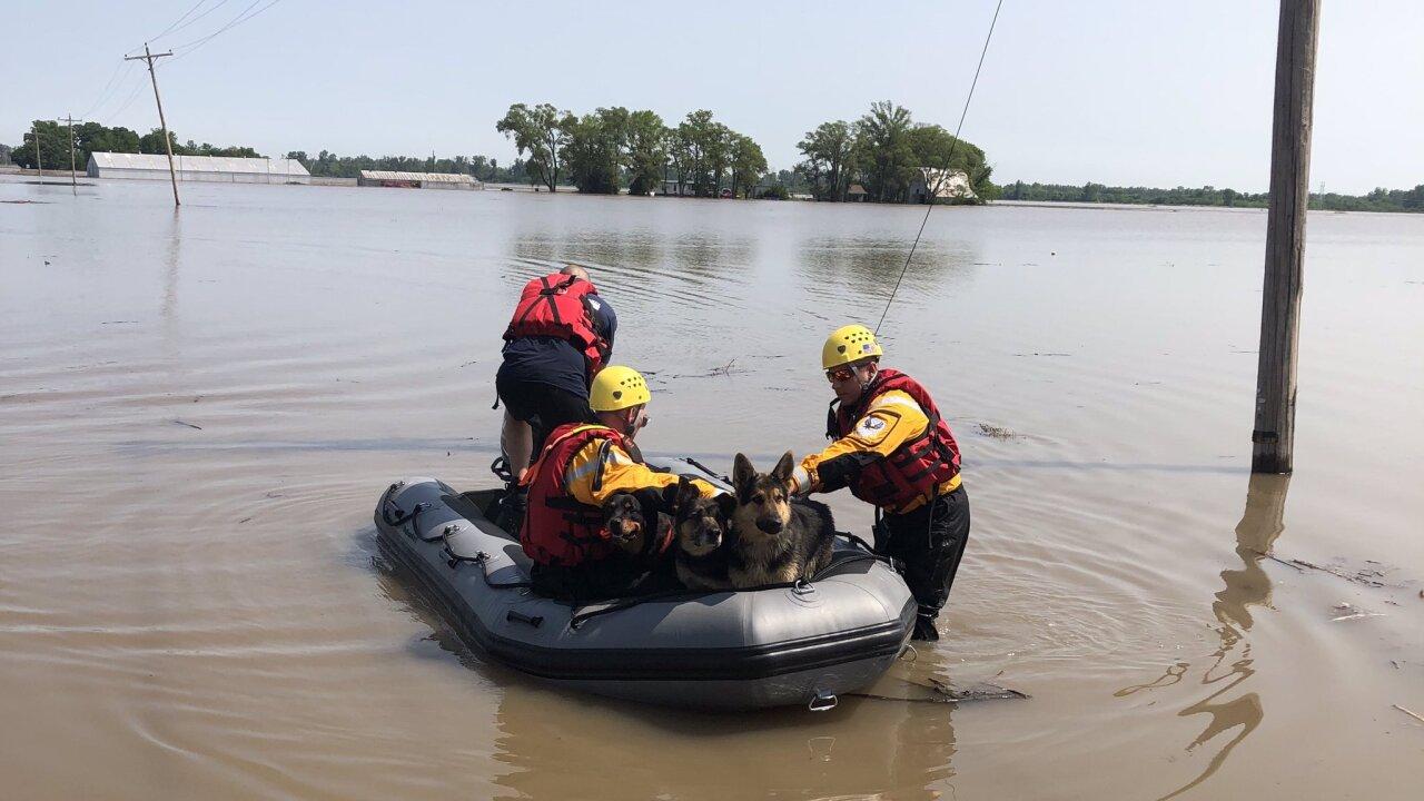 Levee breaches in Levasy