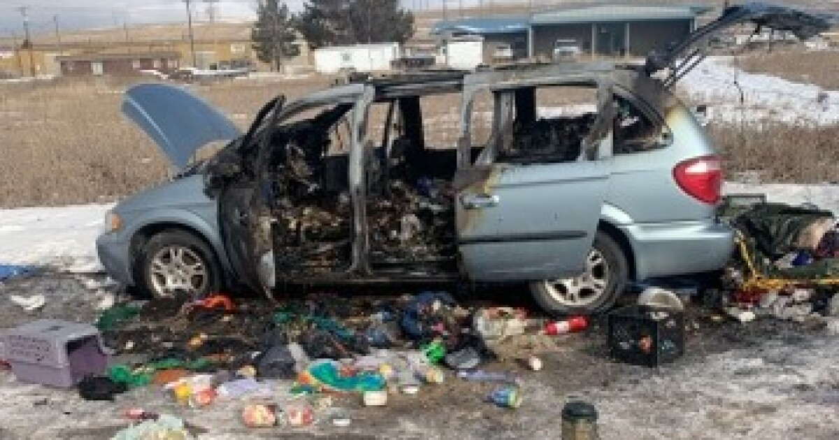 Propane heater catches homeless woman's van on fire