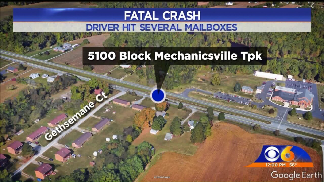 Driver killed in Mechanicsville Turnpike crash