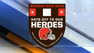 Browns Hats off to our heroes logo
