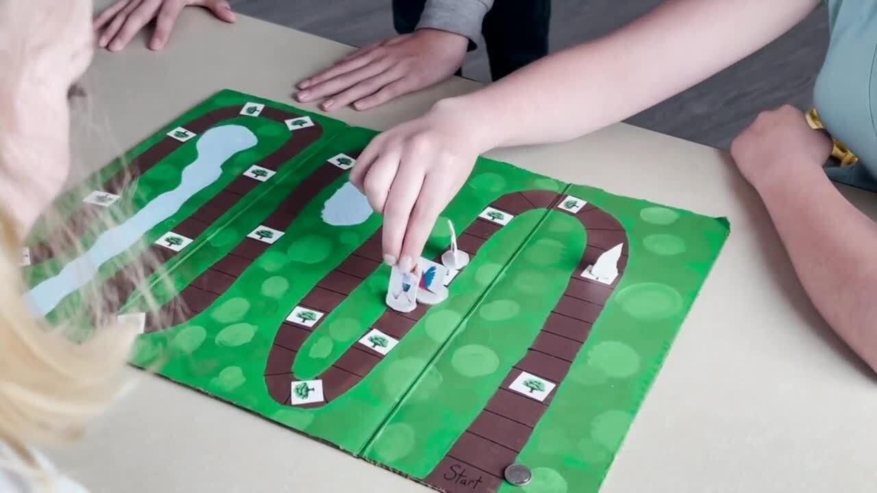 "Addy designed a game she calls ""Tree Dares."""