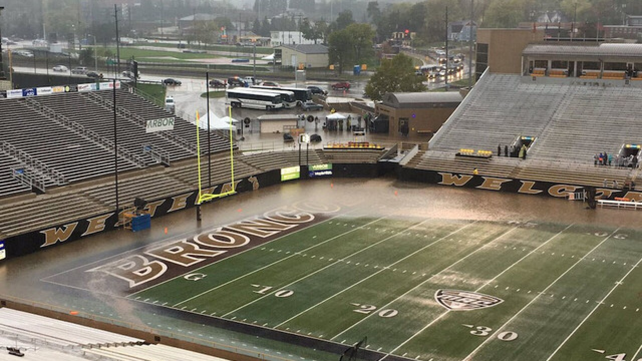 College drains 1 million gallons of water from stadium
