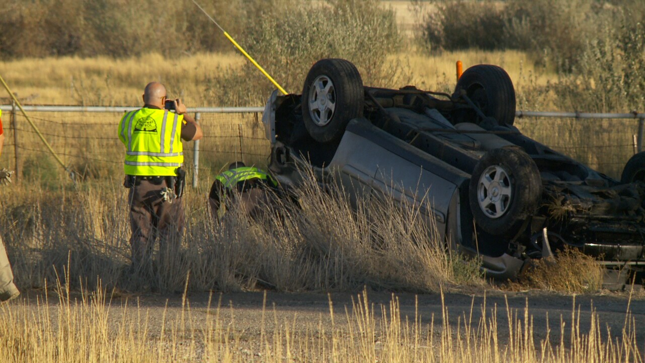 Photos: Police seek other driver after road rage rollover leaves man with life-threatening injuries