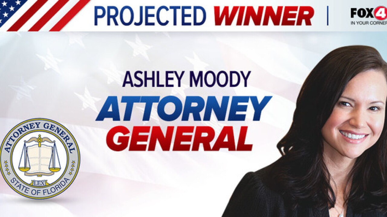Former judge Moody elected as Florida Attorney General