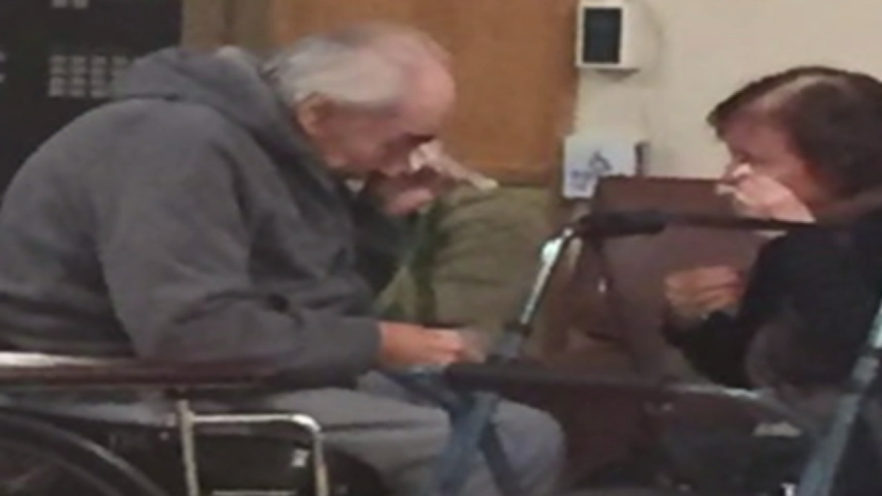 VIDEO: Why is this elderly couple crying?
