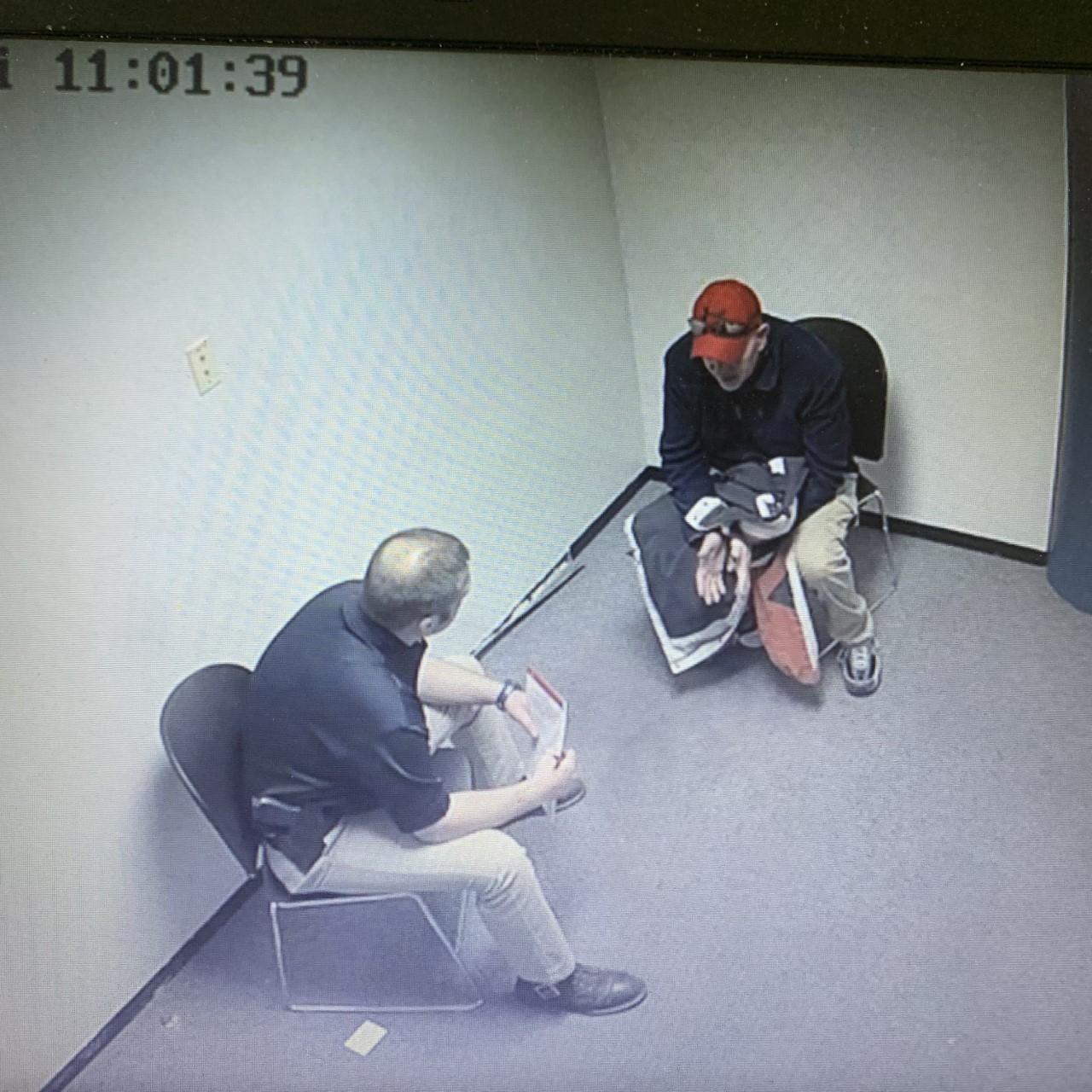 Middletown Police Detective Brook McDonald interviews Dwayne Tucker in February 2019