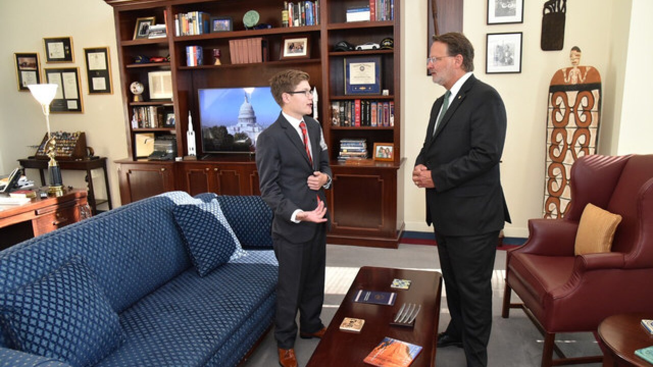 MI teen with heart condition gets to be Senator for a day with Sen. Gary Peters