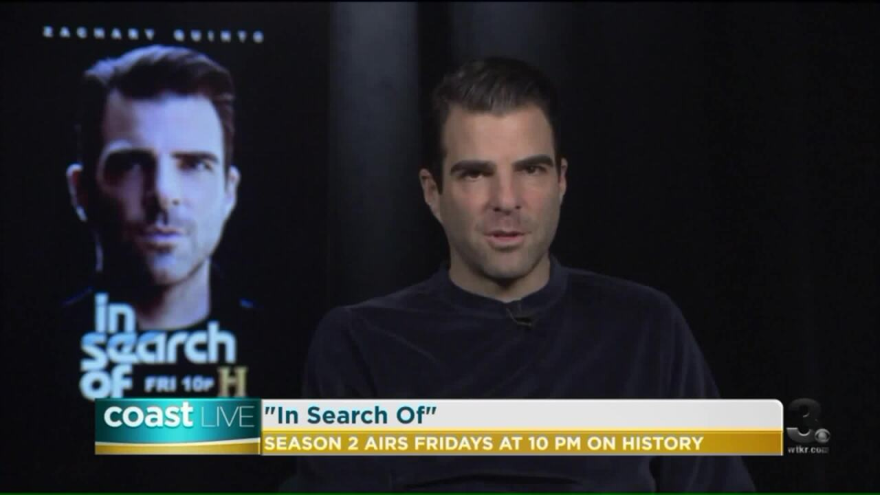 """""""In Search Of"""" mysteries with Zachary Quinto on CoastLive"""