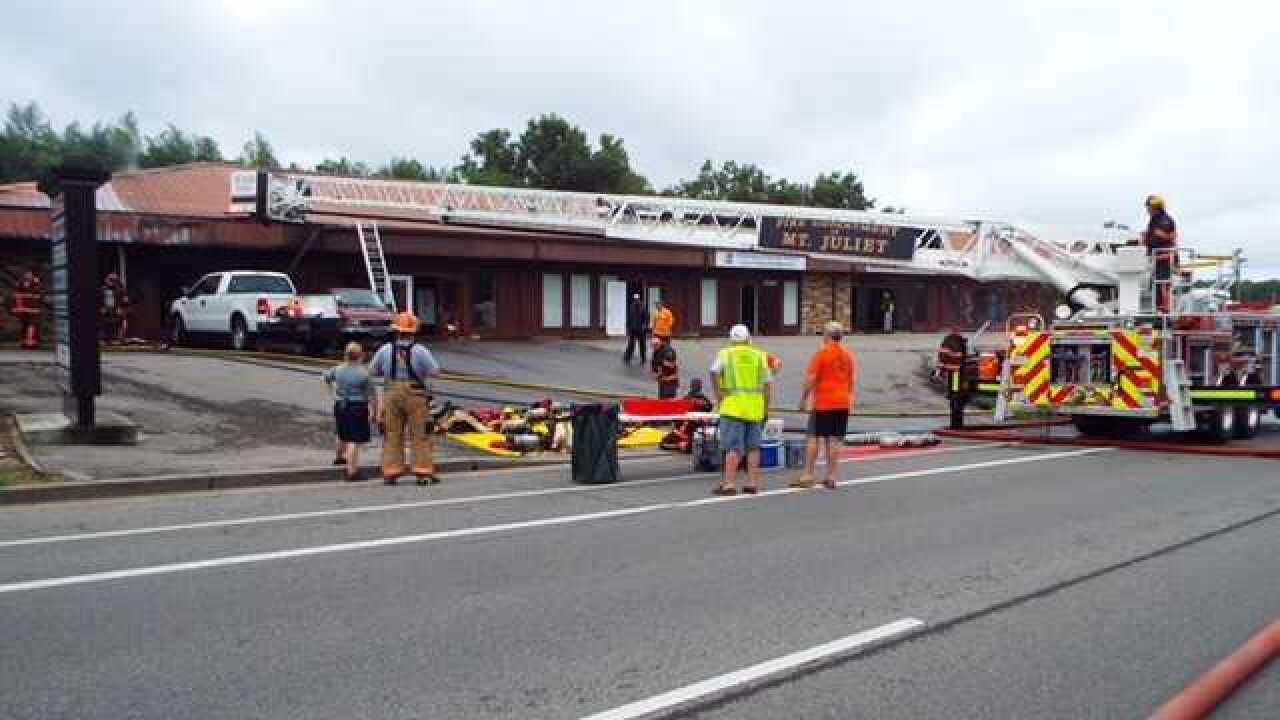 Multiple Businesses Damaged In Mt. Juliet Fire