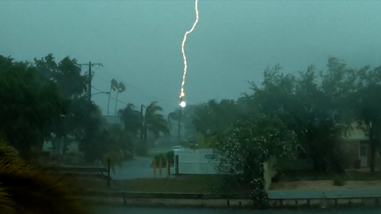Lightning strike hits transformer