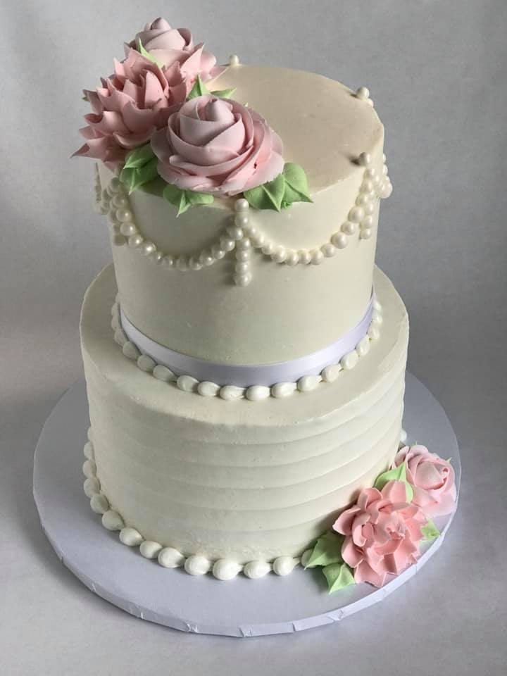 Cakes by Stephanie Two Tiered Cake