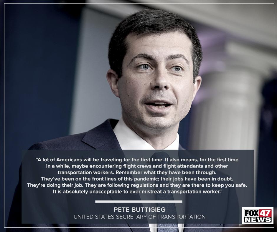 Transportation Secretary Pete Buttigieg